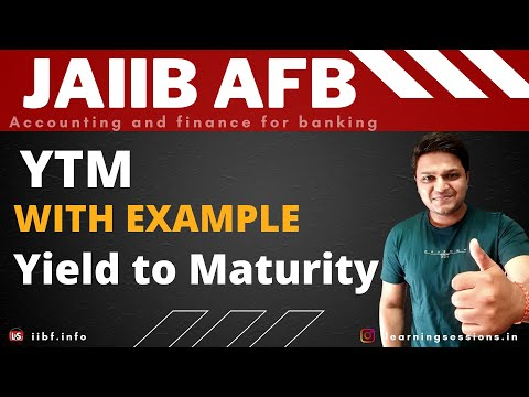 JAIIB Yield to Maturity with example Accounting and Finance for Banking in Hindi