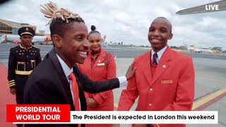 Eric Omondi Presidential Motorcade To Jkia For London