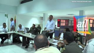 Alcalde Fredys Socarras Concejo de Seguridad