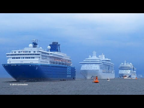 2nd MEYER WERFT Cruise Ship Parade 2018 In Rostock Warnemünde    4K-Quality-Video