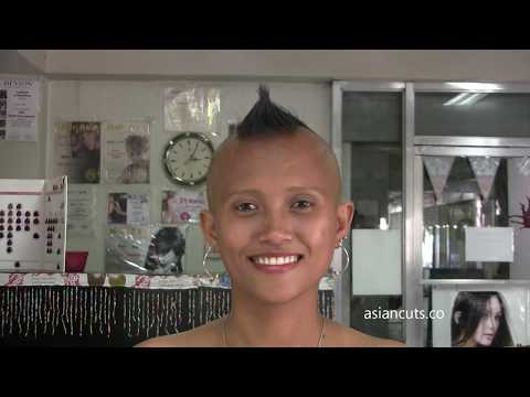 Vid 804 – Jinky-10 Chin Length To Mohawk To Bald