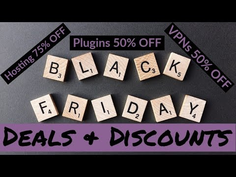 Black Friday & Cyber Monday Deals 2019 - WordPress Hosting, Plugins and More! thumbnail