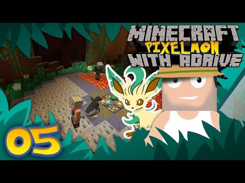 GRASS GYM CHALLENGE! Minecraft PIXELMON with aDrive! Ep05 - PocketPixels Red Let's Play!