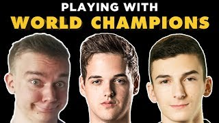 Playing with WORLD CHAMPIONS - Rocket League - JHZER