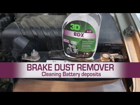 Brake Dust Remover Cleaning Battery Deposits with a blaster