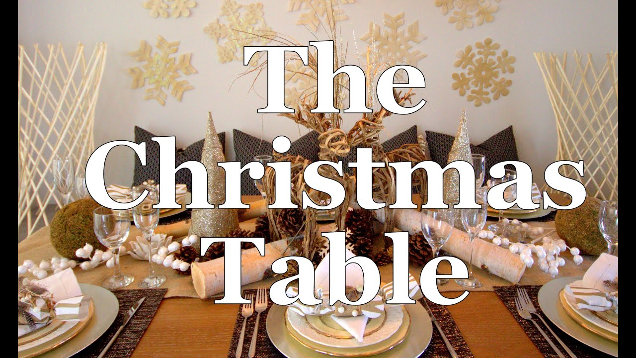 Decorate your dining table for Christmas DIY Terri Cumming