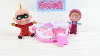 Masha Küçük Bebek Arkadaşı cek cek İle Makyaj Yapıyor Çizgi Filmler