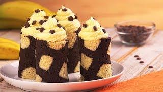 Bananenkuchen mal anders - Rezept für Bananen Schoko Röllchen
