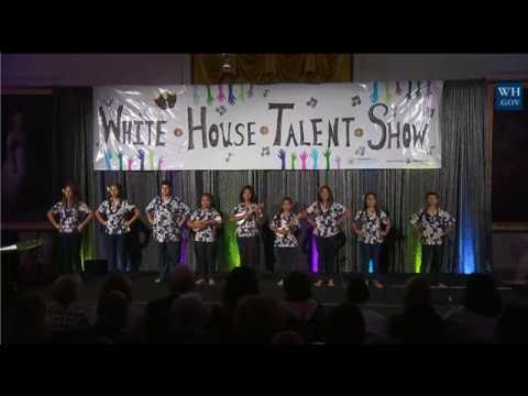 Hawaii Kids performing at White House Turnaround Arts Talent Show hosted by The First Lady