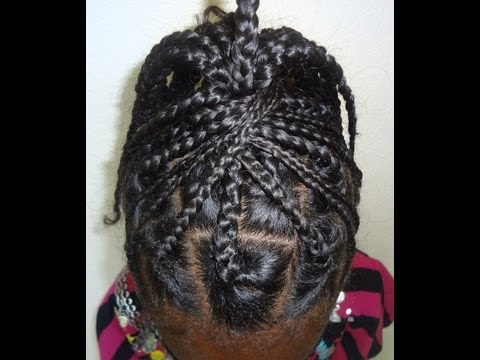 Box Braid Styles for Natural Hair - YouTube