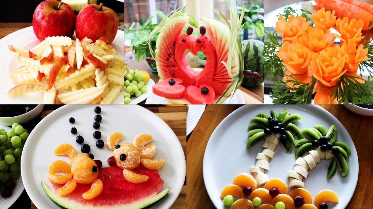 5 Super Fruits Decoration Ideas - Fruits Plate Decoration !
