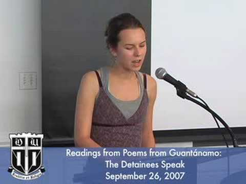 Readings from Poems from Guantánamo: The Detainees Speak