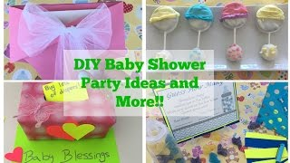 Pinterest DIY Baby Shower Party Ideas (Tutorial) | Decorations…
