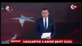 Hakkari'de kalleş tuzak: 4 şehit, 4 yaralı son dakika 04.10.2017