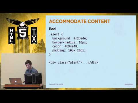 HTML5TX 2013 - Front End Legos: Better Design With Reusable HTML & CSS