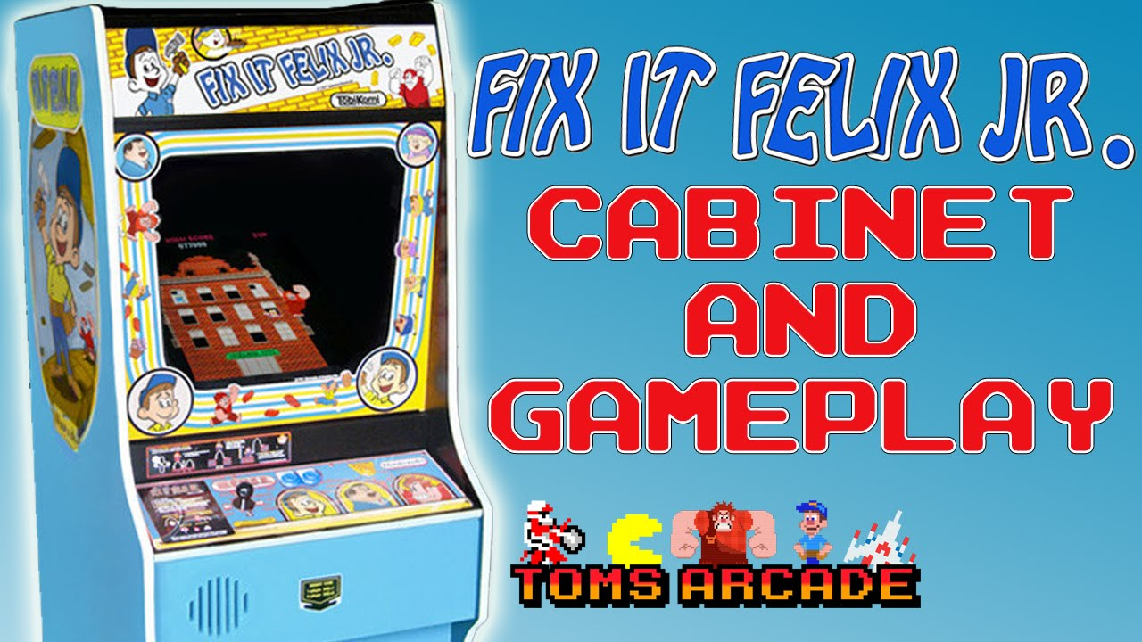 Fix It Felix Jr - Cabinet and Gameplay - YouTube
