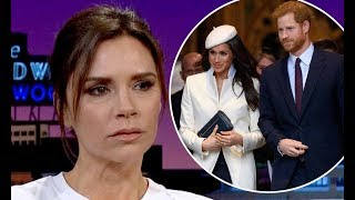 Victoria Beckham says on chat show that she's going to royal wedding during Late Late Show