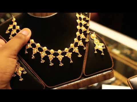 সোনার কম ওজনের নেকলেস দাম ও কালেকশন /gold nackless price bd