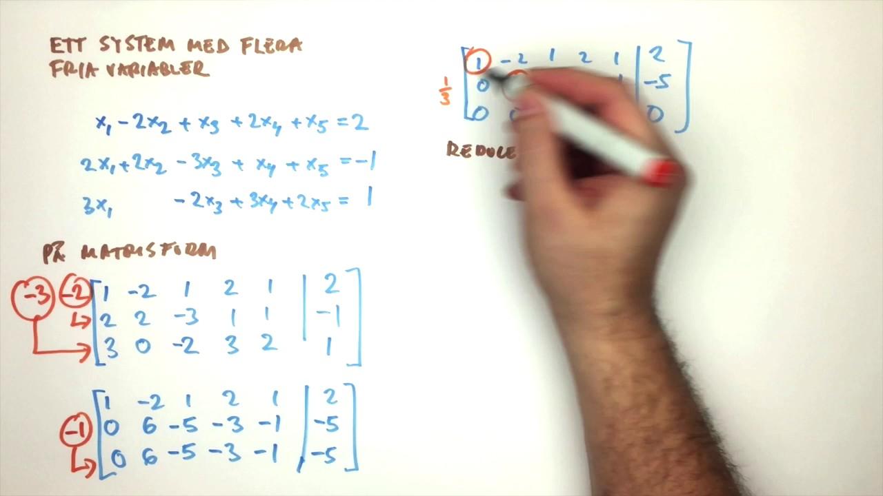 Femdimensionellt system som har tre fria variabler