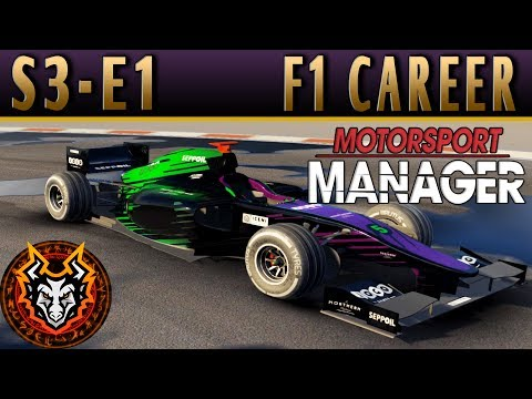 Motorsport Manager F1 Career S3E1 - NEW SEASON BUILDING OUR CAR & TEAM!