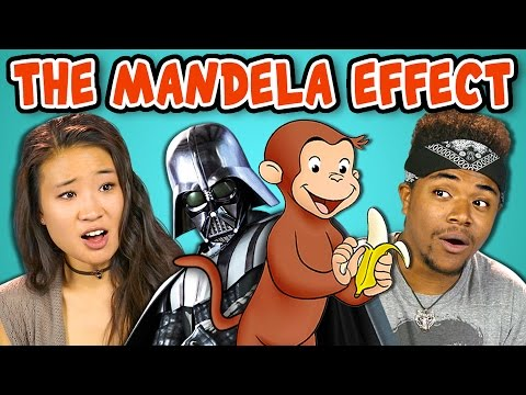 Thumbnail: 10 CREEPY MANDELA EFFECTS WITH COLLEGE KIDS (React)