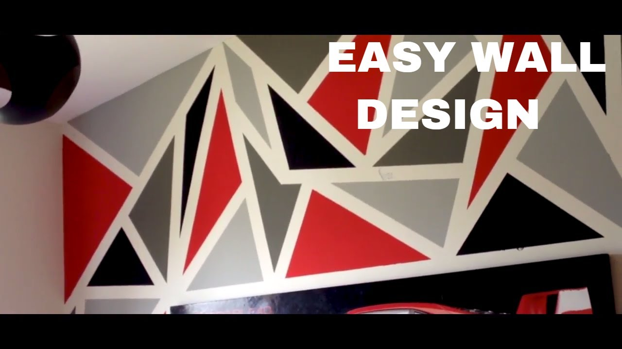 Painting a diy geometric wall design easy youtube - Geometric wall designs with paint ...