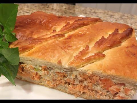Рыбный пирог с сёмгой  Царский.