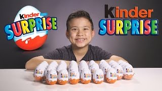 KINDER SURPRISE EGGS!!!  Let's Crack 'Em Open!