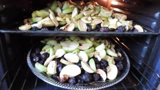 Сушим яблоки груши сливы
