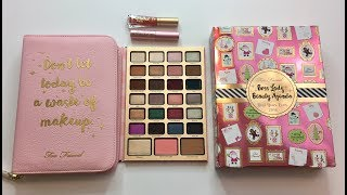 Too faced boss lady beauty agenda swatches | holiday collection 2017
