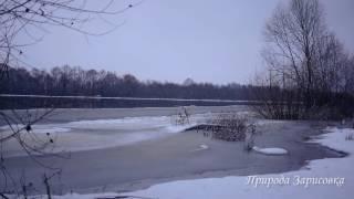 Река. Природа. Зима. Музыка. Релакс. Леди  Зима. Эмбиент. Место силы. Луанж. Чилл аут.