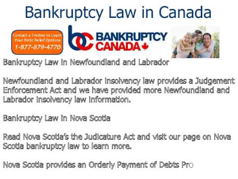 Bankruptcy Law in Canada