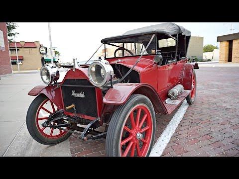 driving a 1913 hupmobile antique car