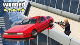 Police Chase Me Down But I Have A Flying Car.. (GTA RP)