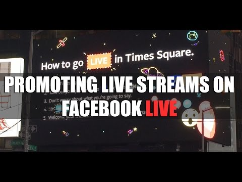 Promoting Facebook Live Streams
