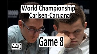 Carlsen-Caruana ¦ Game 8 ¦ Equalling the record!