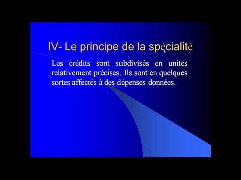 Pr. Abderrahmane HADDAD  - EG4 : Finances publiques - Partie 2 : Principes budgétaires - suite