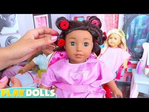 American Girl Doll Hair Salon & Spa Day