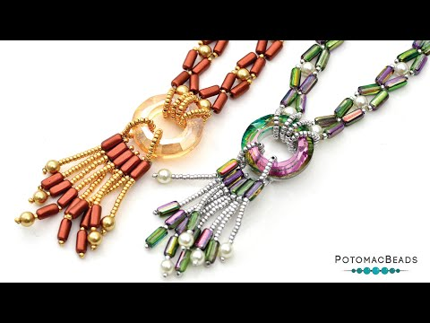 City Lights Necklace - DIY Jewelry Making Tutorial by PotomacBeads