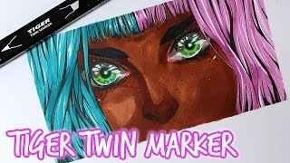 TIGER TWIN MARKER ★ Speedpaint (Test)