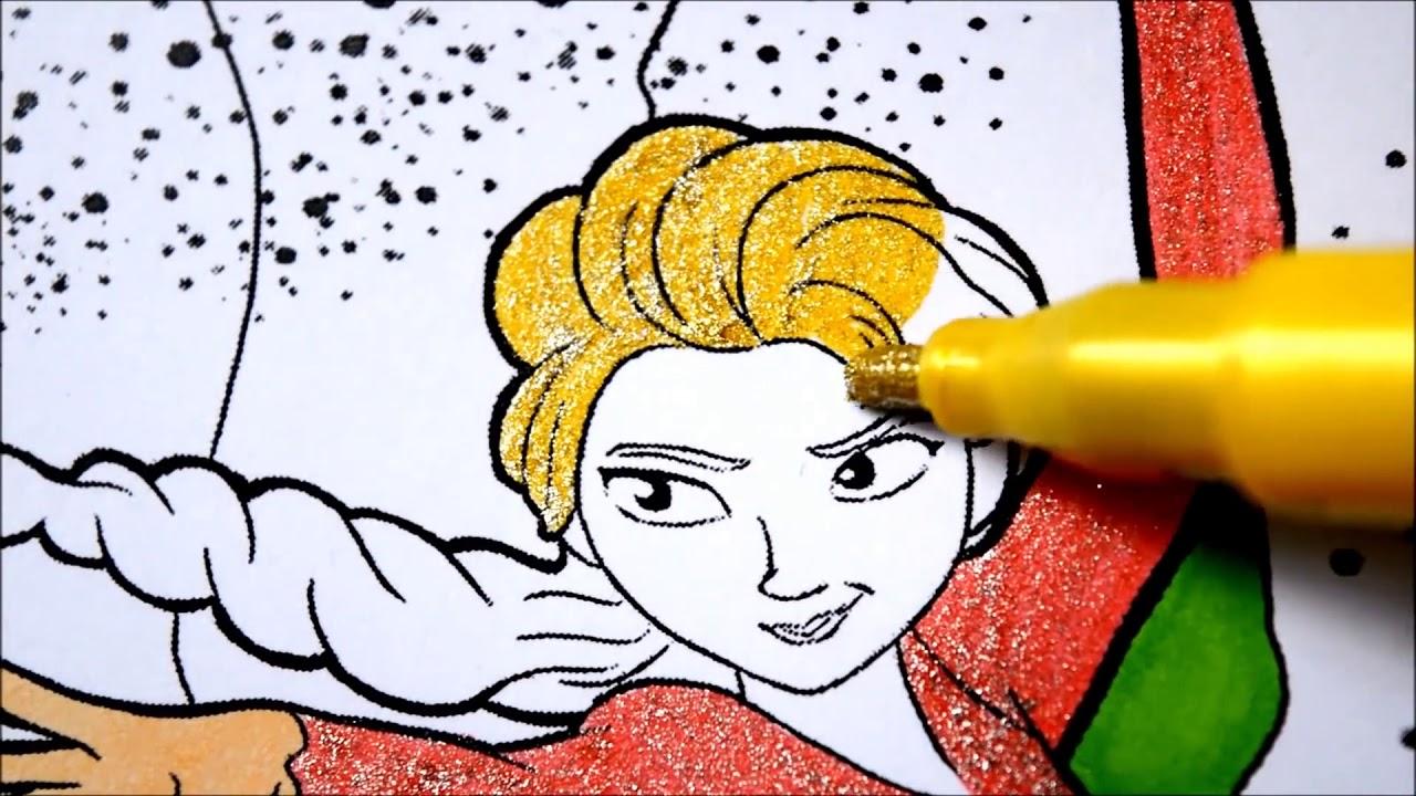 Disney Karlar ülkesi Boyama Kitabı Hızlandırılmış Elsa Boyama Youtube