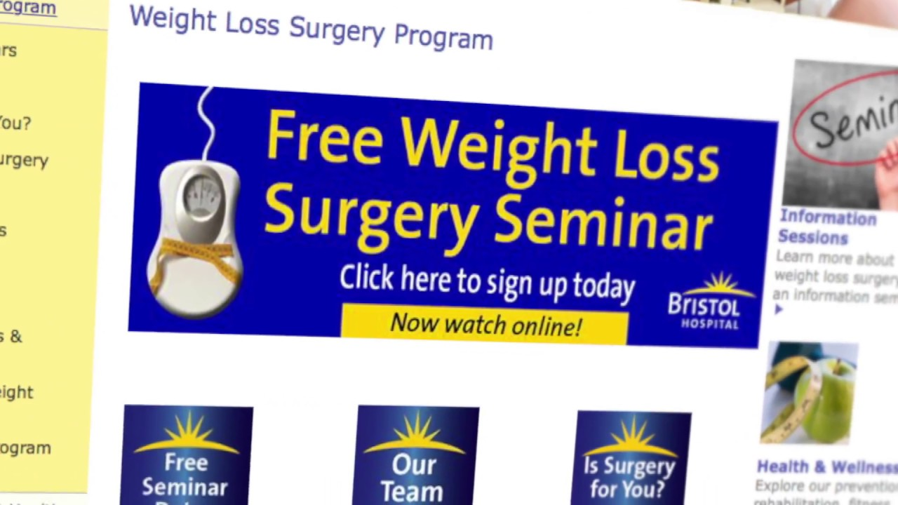 Bristol Hospital Online Weight Loss Surgery Video Preview Youtube