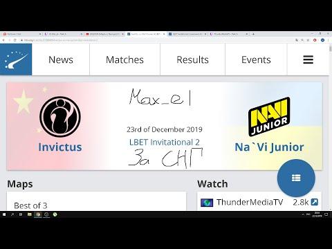 [RU] Invictus Vs Na`Vi Junior |CS:GO|bo3|LBET Invitational 2.комментатор- By Max_el0 0