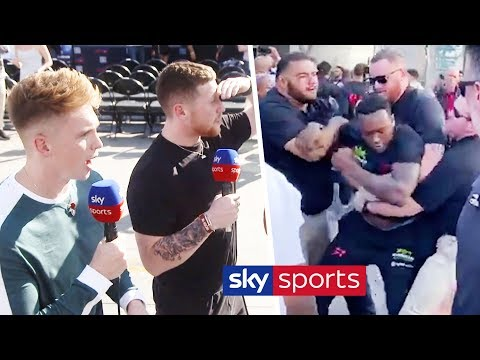 EXCLUSIVE! Viddal Riley & Shannon Briggs clash at weigh in | Joe Weller & Behzinga react 1