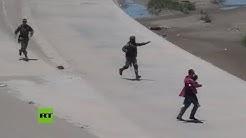 Mxico: detienen a migrantes centroamericanos en la frontera con EE.UU.