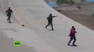 México: detienen a migrantes centroamericanos en la frontera con EE.UU.
