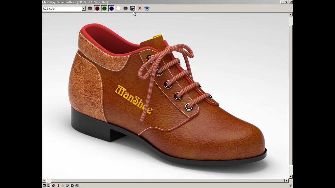ImagineElf3D 男鞋製作 - 渲染 二