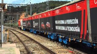 FGC / Comsa Rail Transport - 353.002 + Cargometro + 353.001 en Castellbisbal