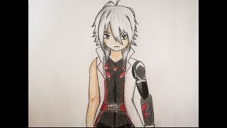 How to draw Red Eye - Beyblade Burst Evolution (REMAKE)