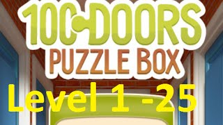 100 doors puzzle box - 100 Дверей Головоломки Level 1 - 25 Walkthrough прохождение